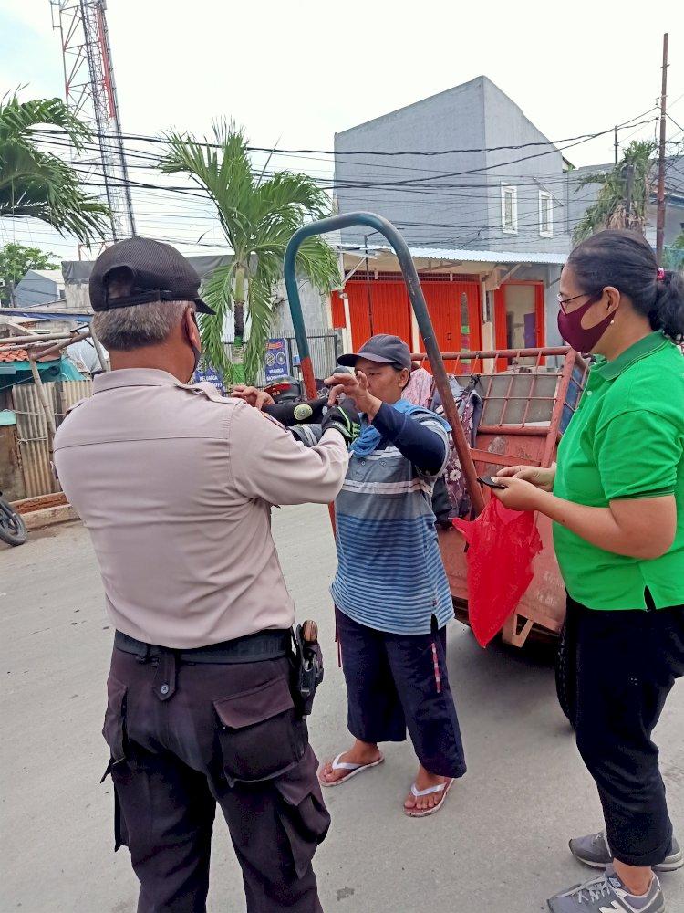 Barisan Pencinta Pancasila Bagi-bagi Masker dan Sosialisasi Protokol Kesehatan
